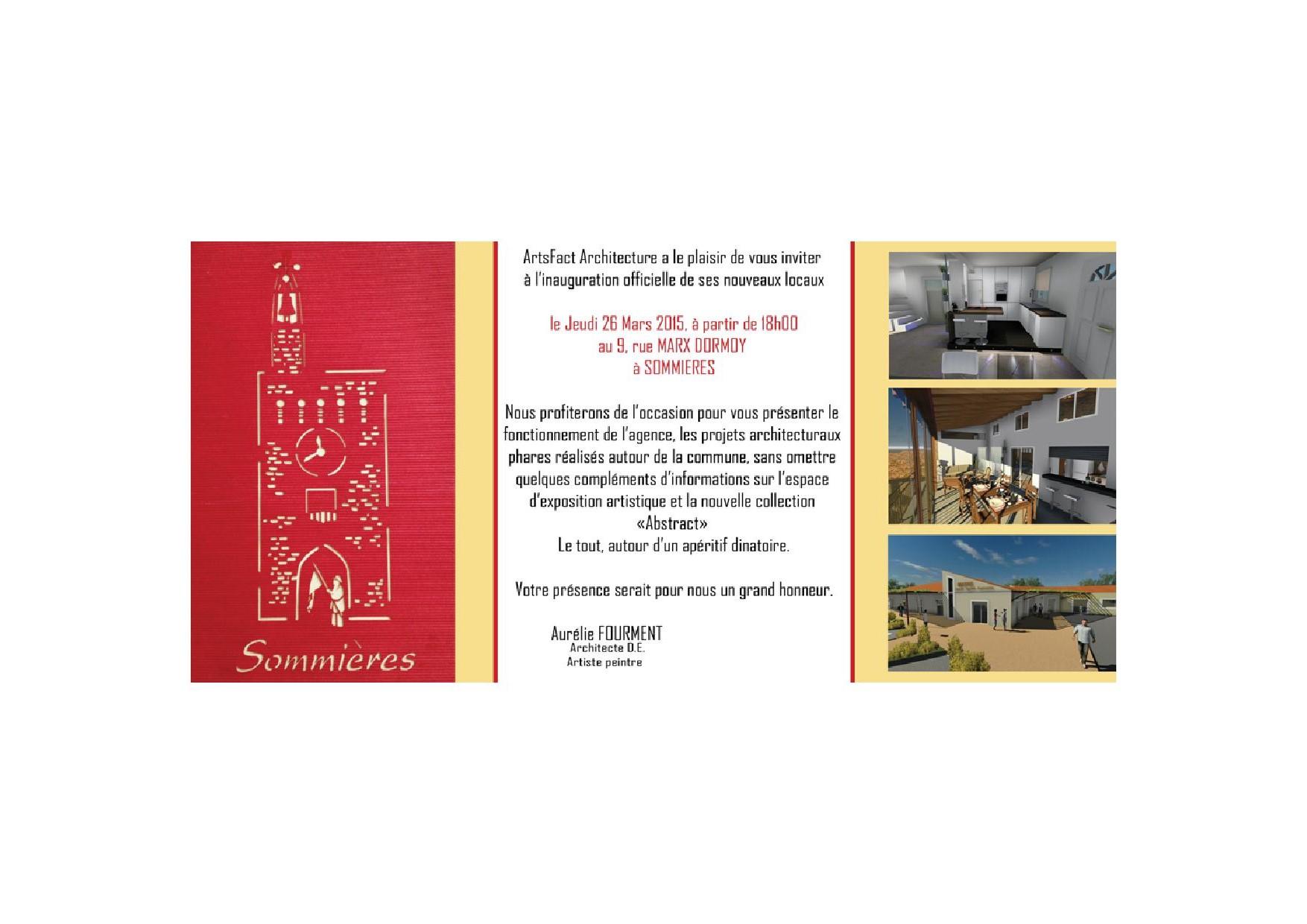 Inauguration des nouveaux locaux de Artsfact Architecture à Sommières