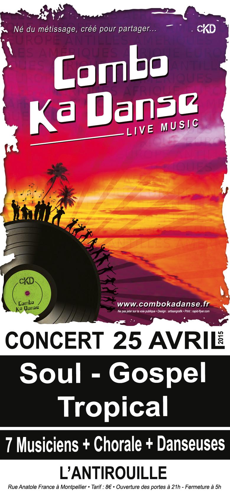 HARMONYSON production présente ComboKaDanse en concert à l'Antirouille – 25 avril 2015