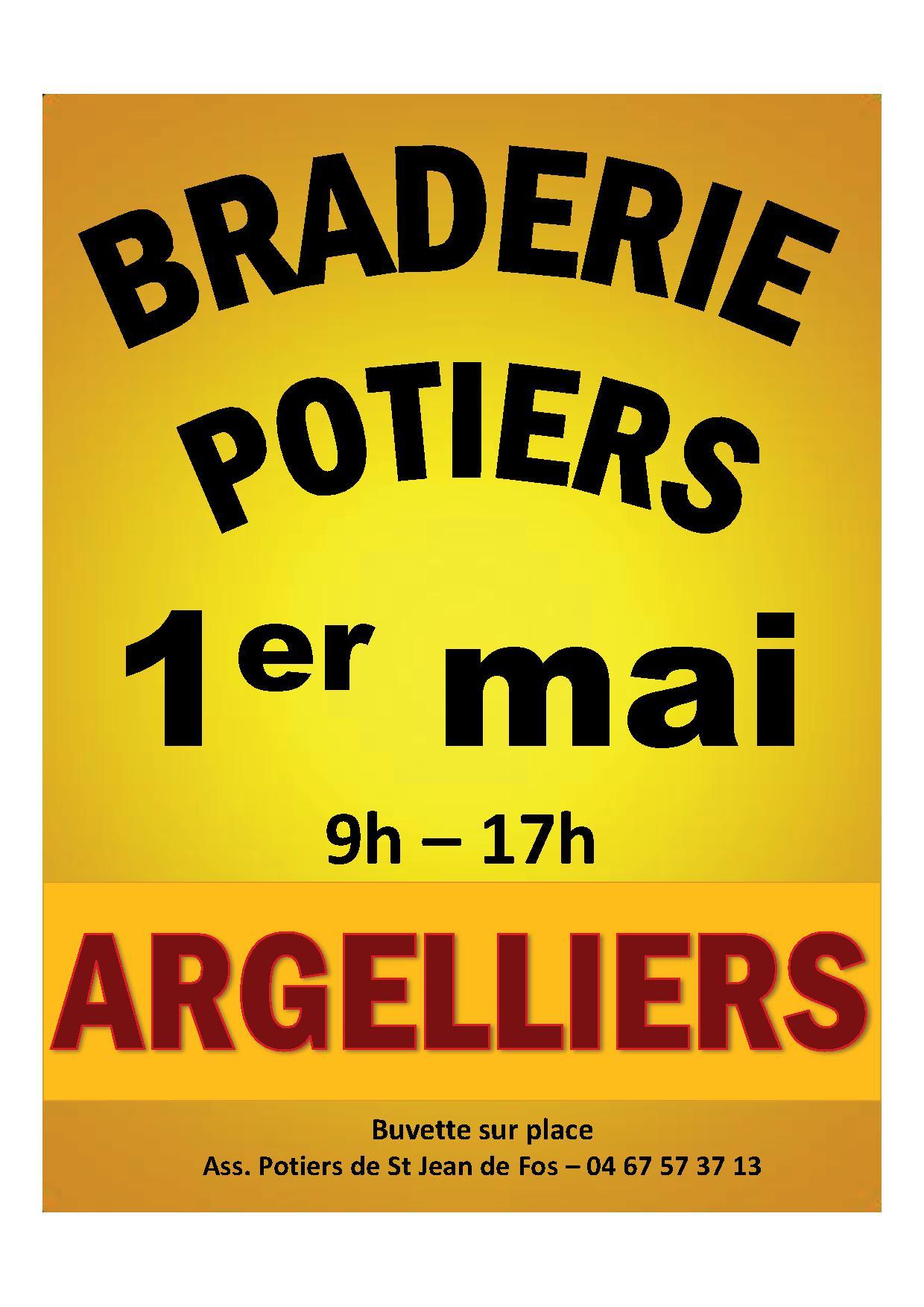 Braderie des potiers – Argelliers – 1er mai 2015