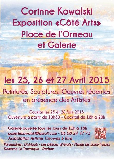En avril, Sébastien Picard expose … à St Tropez