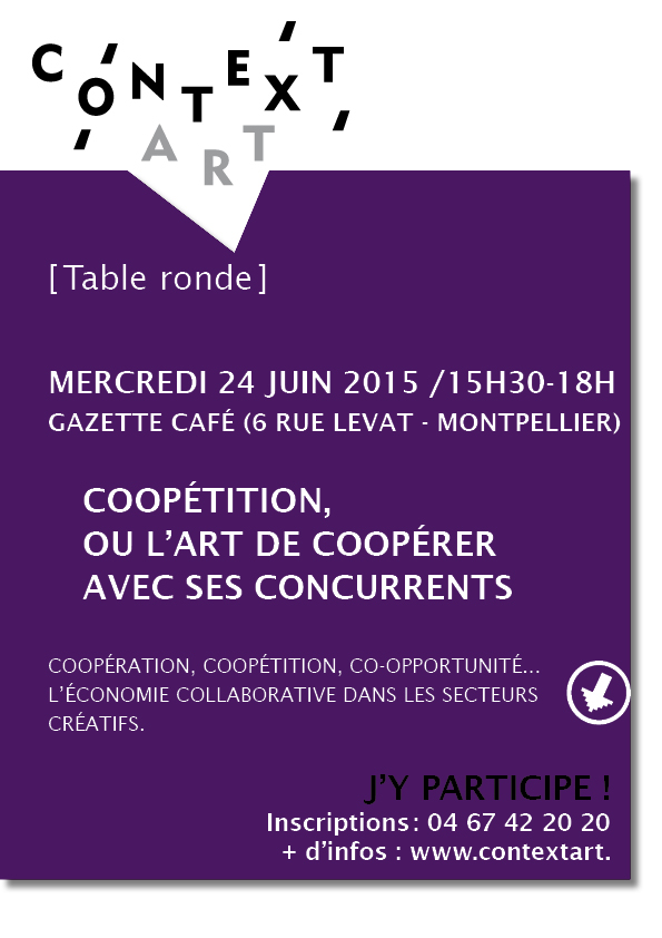 J-1 – Table ronde : Coopétition, ou l'art de coopérer avec ses concurrents – 24 juin 2015 – Gazette café