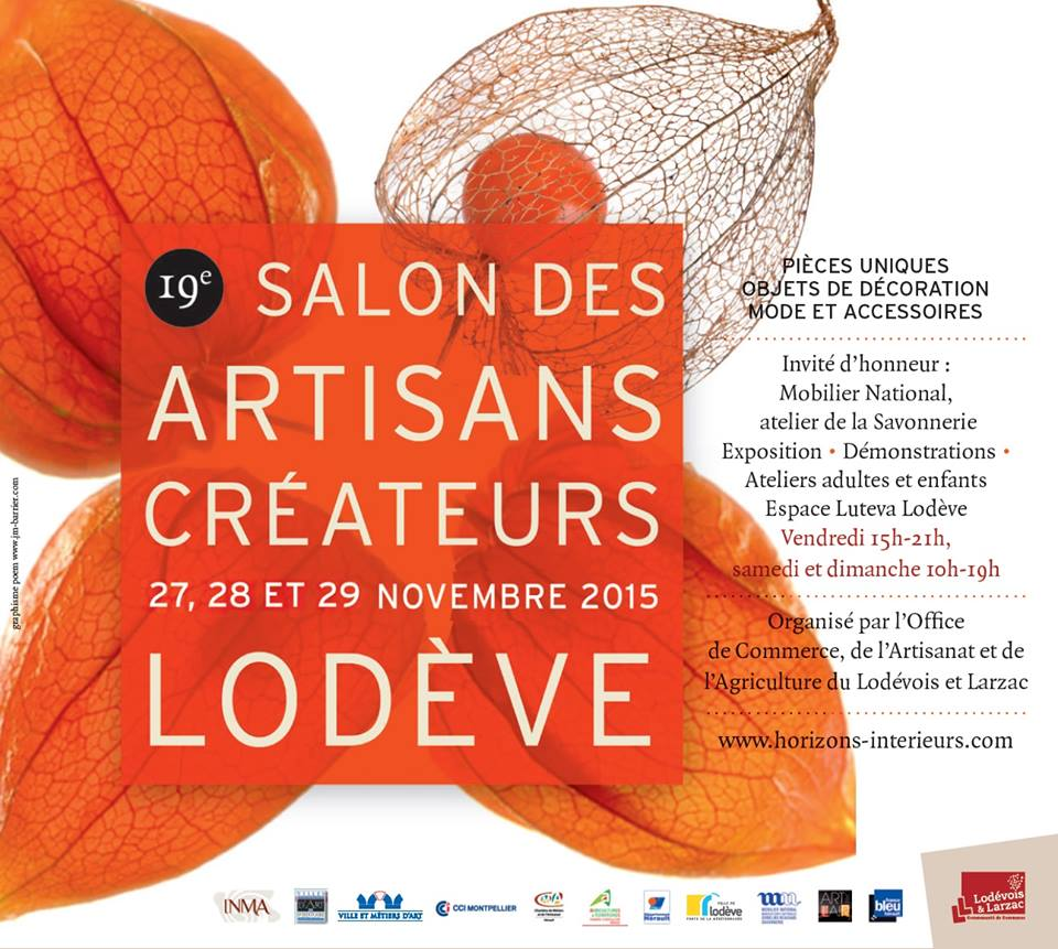 Salon des artisans créateurs de Lodève – 27/29 novembre 2015