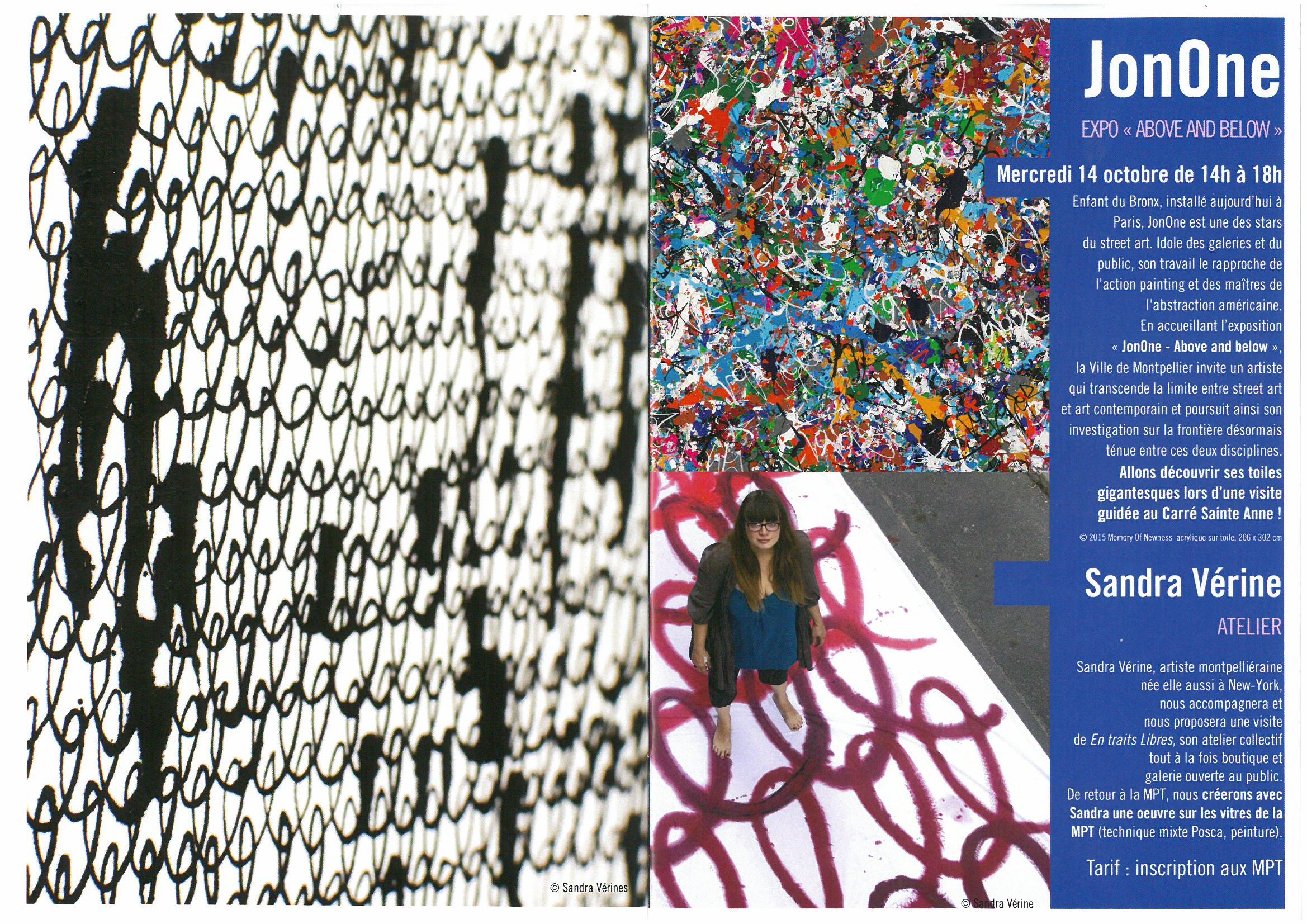 Sandra Vérine et Jonone : créations à 4 mains…le 14 octobre 2015