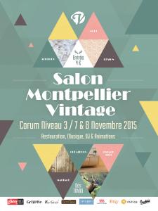 Affiche Salon Montpellier Vintage
