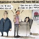 Dessin de presse Obsolescence-© Maxime Masgrau
