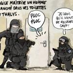 Dessin de presse Thalys-© Maxime Masgrau
