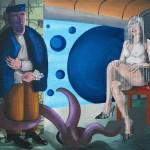 La femme givrée-acrylique sur toile de jute-110x130cm-2008 © Christophe Cosentino