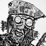 L'homme amarré- laque sur toile-80x80 cm-2015 © Christophe Cosentino
