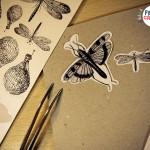 stickers-gravures-vintage-Papier Crepon