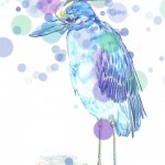 Oiseau bleu avec effet de bokeh-basse résolution