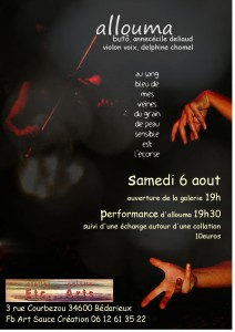 allouma, 6 aout atelier galerie Etc...Arts