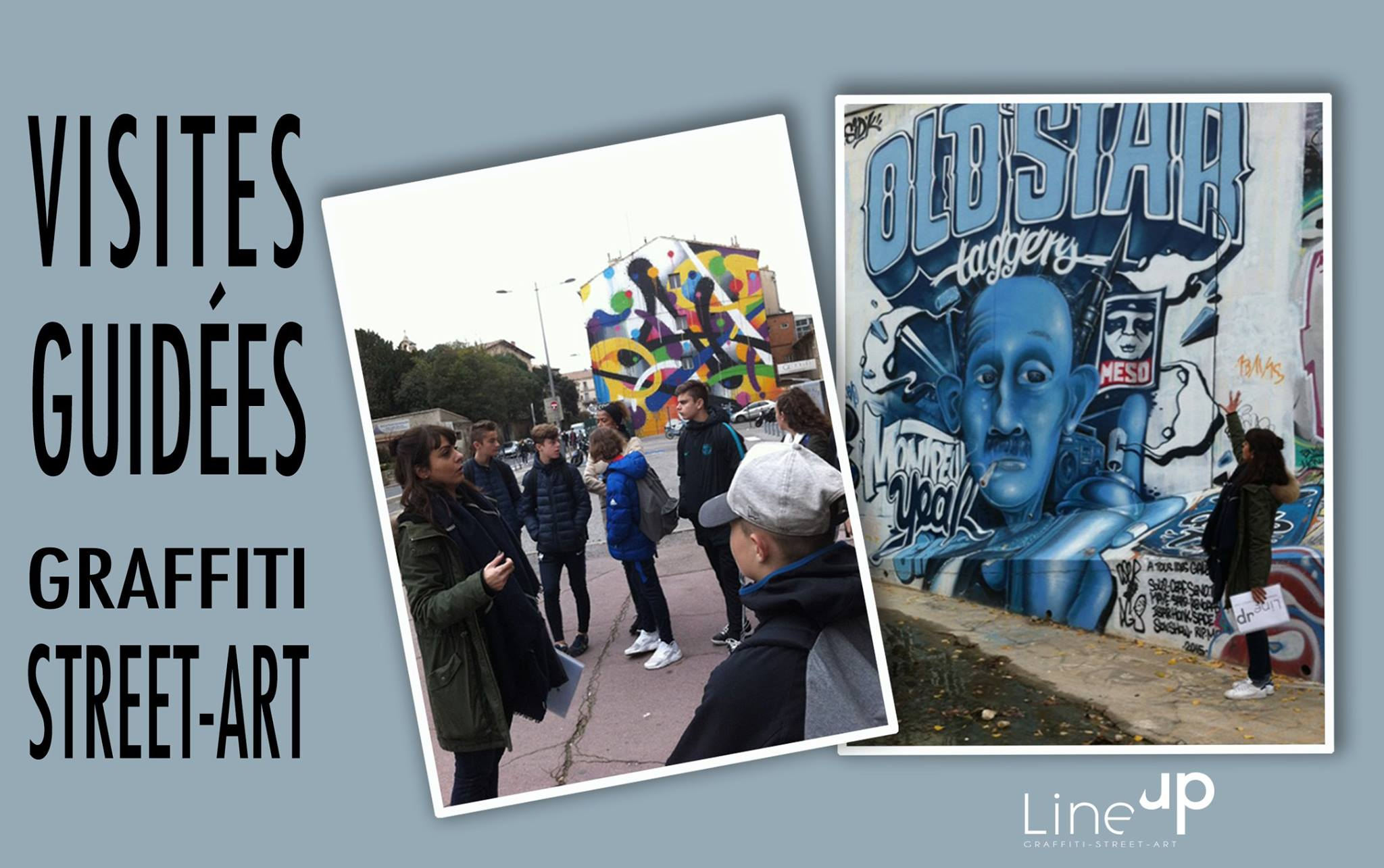 Visites guidées Graffiti – street-art par Line Up