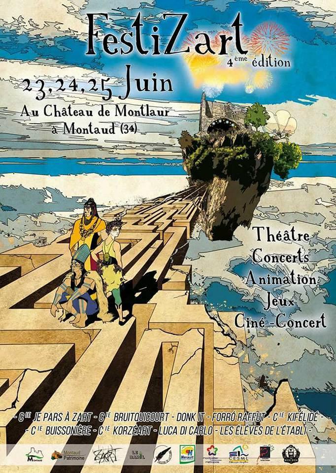 Le Festizart revient !! 23-25 juin 2017 – Montaud