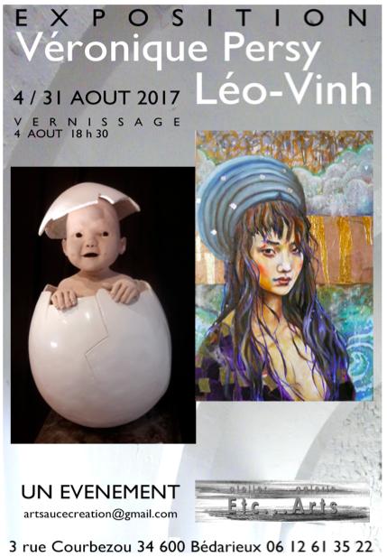 Expo à la galerie atelier galerie Etc… Arts à Bédarieux