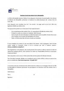 Brochure métiers d'art Montpellier – Inscrivez-vous vite!