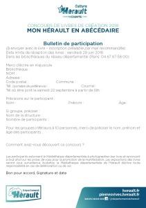 bulletin d'inscription Concours livres 2018