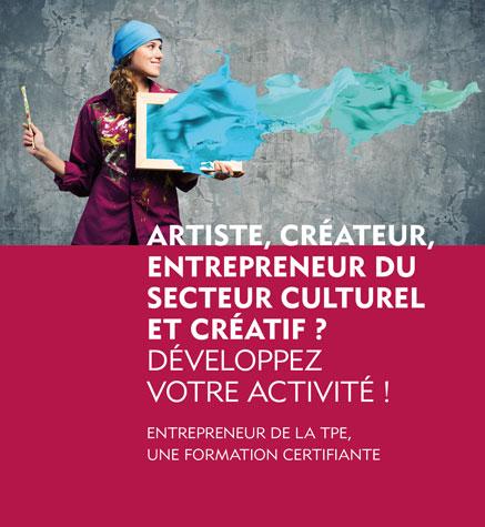 FORMATION CERTIFIANTE > Entrepreneur secteur culturel et créatif // Nouvelle rentrée le 14 octobre 2019