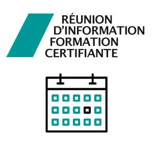 [RÉUNION D'INFORMATION] Formation certifiante