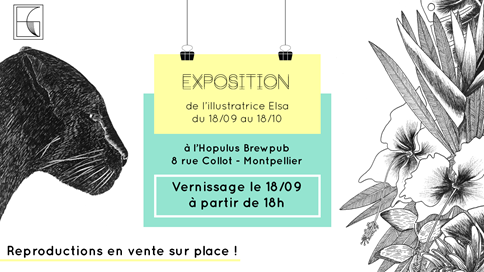 [EXPOSITION] L'illustratrice Elsa Gabet expose à Montpellier